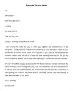 Employment Warning Letter 32 Hr Warning Letters Free Sle Exle Format Free Premium Templates