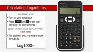 how to sharp how to use logarithms on a sharp scientific calculator