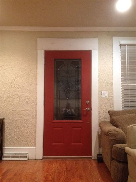 sherwin williams fired brick red front door