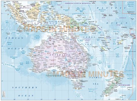 map of australasia digital vector map of australasia region political with