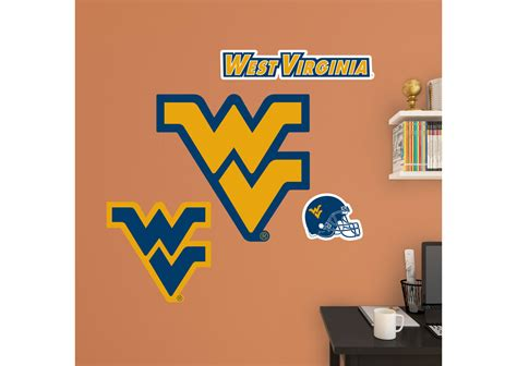 Basketball Wall Mural west virginia mountaineers logo assortment wall decal