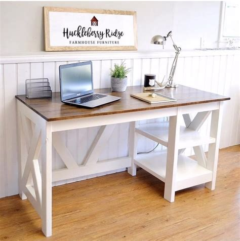 white farmhouse x desk diy projects
