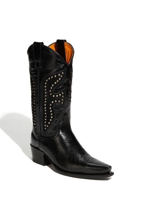 frye studded boots frye duke studded boot in black lyst