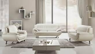Sabina off white leather sofa set