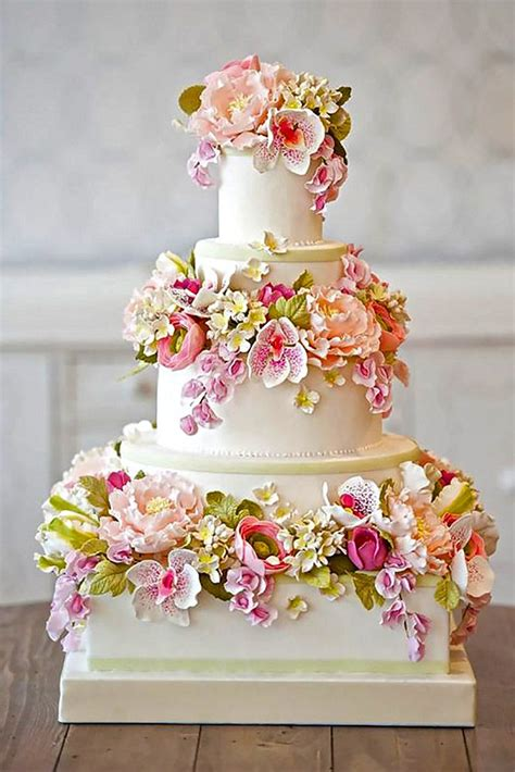 Fondant Wedding Cakes by 24 Outstanding Fondant Flower Wedding Cakes Wedding Cake