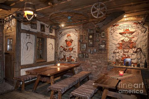 Rustic Decor restaurant benches with a rustic decor photograph by jaak nilson