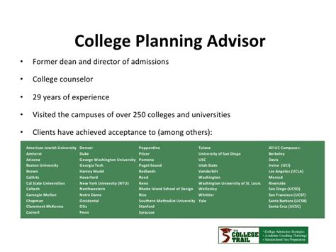Questions To Ask Mba Admissions Counselor by The College Trail How To Get In To The Right College