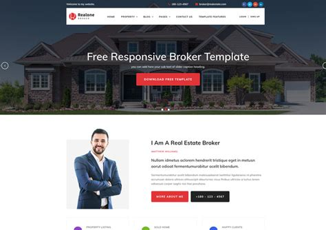 bootstrap templates for real estate free download free website templates archives ease template