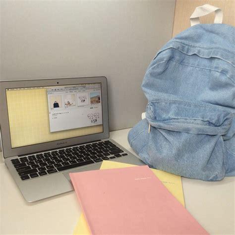 Jacket Brokat Huanzhu Soft Blue backpack grunge backpack denim backpack