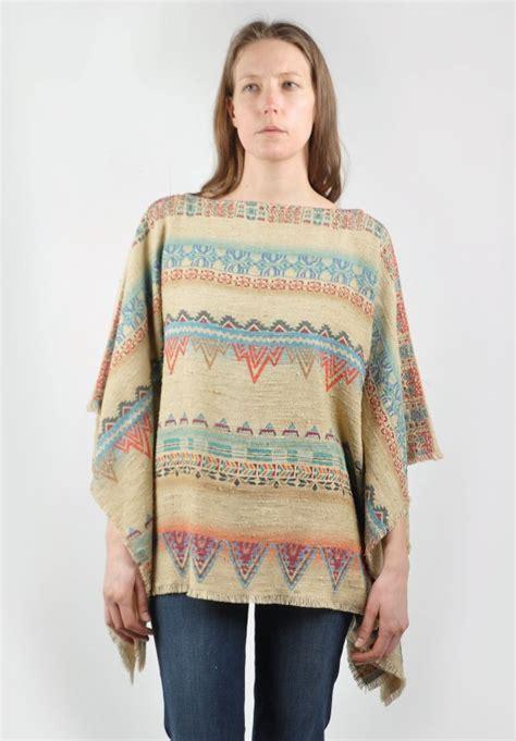 etro quilted jacket in tribal pattern santa fe dry goods etro jute poncho top in tribal pattern santa fe dry