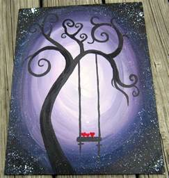 painting ideas easy swing hearts simple painting ideas canvas