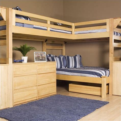 loft bed plans wooden triple lindy bunk bed plans and designs for