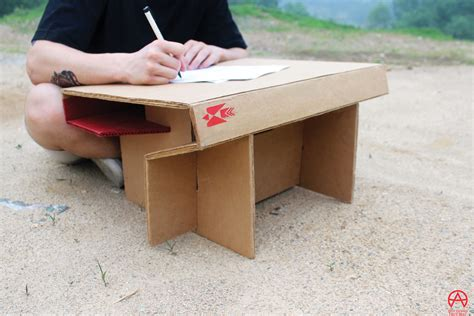kids in need of desks foldable cardboard desk creates an instant workspace for
