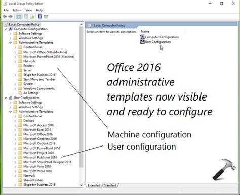 how to install template guide install office 2016 policy templates in