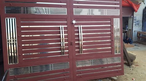 double door steel gate design price rs