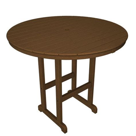 patio table home depot polywood la casa cafe teak 48 in patio bar table