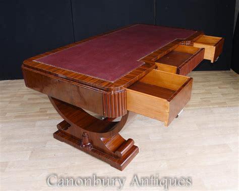 Big Art Deco Partners Desk Writing Table Bureau 1920s Deco Office Desk