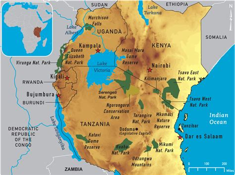 map  east africa