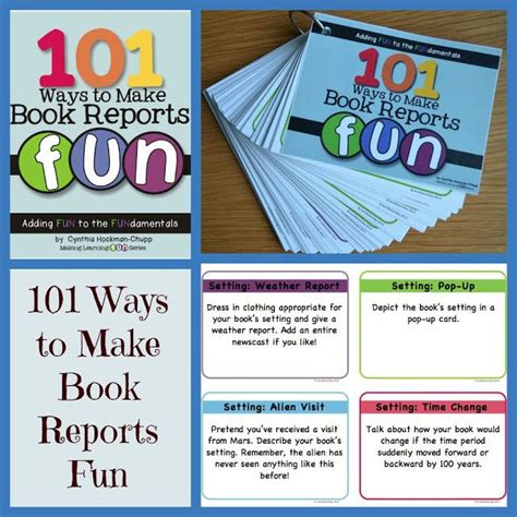 ideas for a book report 101 book report ideas classroom ideas