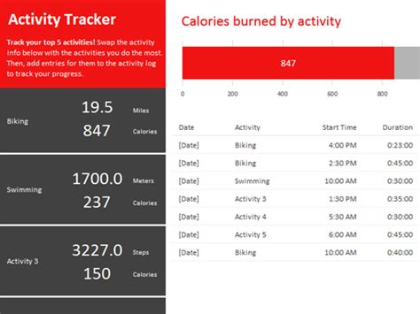 activity programme template sales tracker office templates