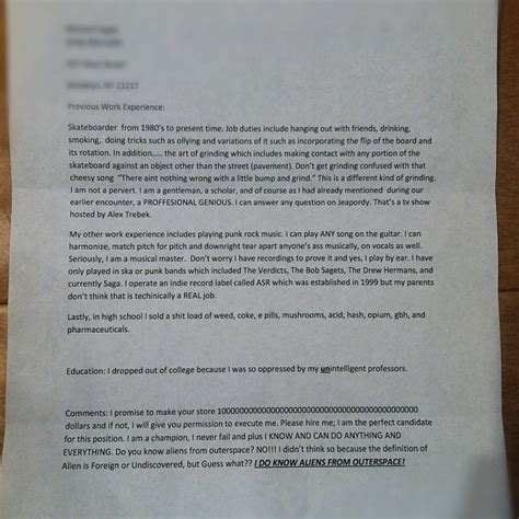 Worst Divorce Letter The 12 Worst Cvs