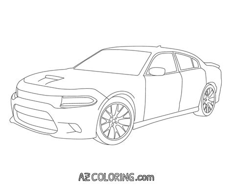 dodge car coloring page dodge charger coloring pages az coloring pages