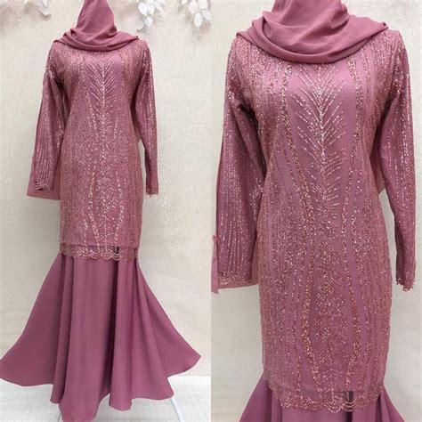 Baju Kurung Warna Purple Belacan saiz 36 48 plus size baju kurung moden lace glitter neelofar pink belacan shopee malaysia