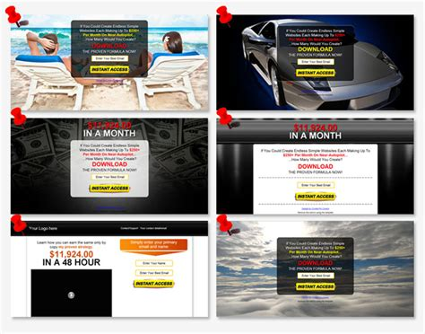 free wso awesome 6 squeeze page templates