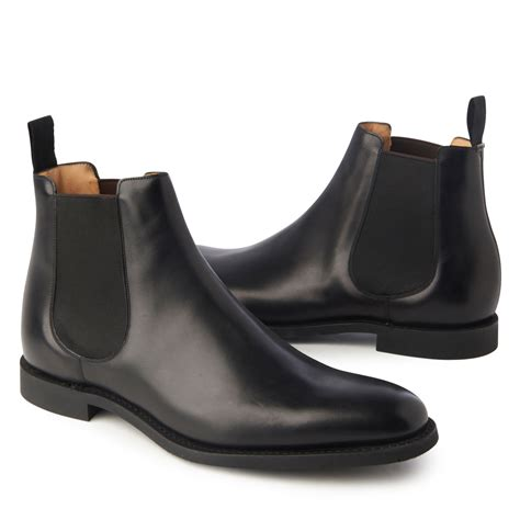 mens chelsea boots church s ely leather chelsea boots in black for lyst