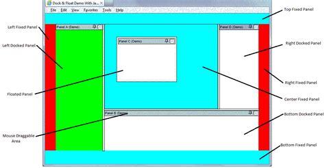 html layout demo html dock float