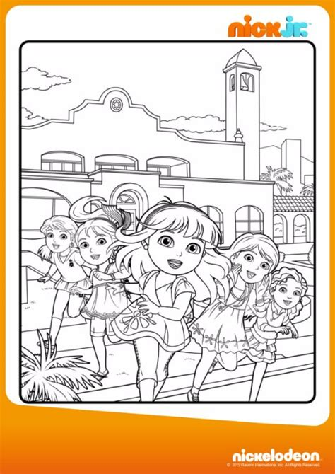 dora and friends coloring pages nick jr pin by lmi kids on dora friends pinterest
