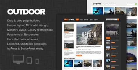 Outdoor Responsive Adventure Blog And Magazine By Dannci Themeforest Adventure Website Templates