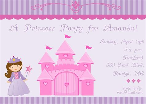 princess invitation template princess invitation wording template best template collection