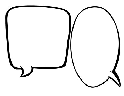 free printable blank speech bubbles clipart best