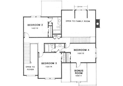 Colonial Style House Plan   4 Beds 3.5 Baths 2750 Sq/Ft