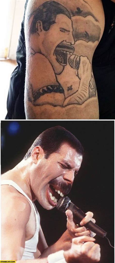 prom queen tattoo fail freddie mercury tattoo fail starecat com