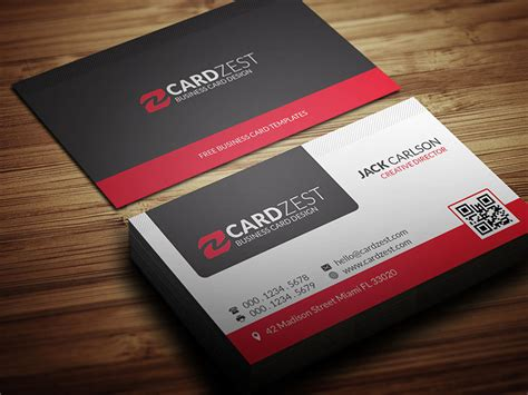 business card design templates free corel draw free modern professional business card template by