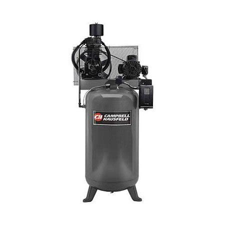 cbell hausfeld ce7000 7 5 hp two stage 80 gallon lube stationary vertical air compressor
