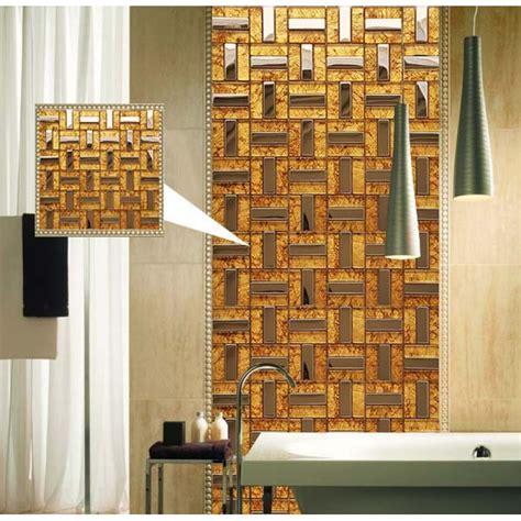 stainless steel mosaic tile backsplash metal and glass tile stainless steel backsplash wall tile