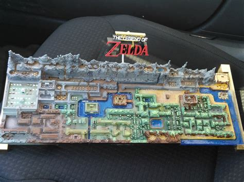 legend of zelda money map 3d printed map of legend of zelda s hyrule draws internet