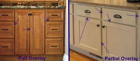 "Shopping for cabinets? Here are some terms to be farmiliar with: ""full overlay"" and ""partial"