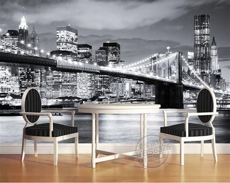 wallpaper design jobs nyc aliexpress com buy fashion city photo wallpaper brooklyn