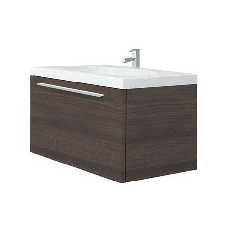 bunnings bathroom vanity forme 920 x 450 x 450mm brown chelsea wall vanity