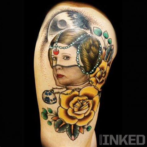 princess leia tattoo princess leia by vinny romanelli inkedmagazine