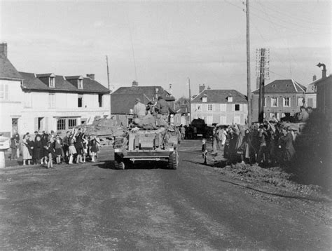 187 national museum of the an armoured car passing through grand viilliers 1944