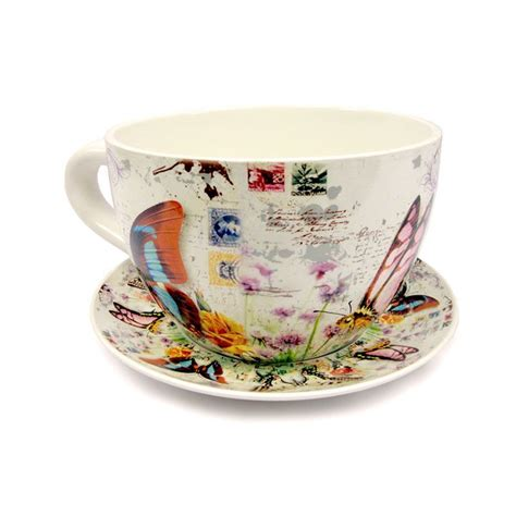 Tea Cup Planter by Tea Cup Planter Butterfly Buy At Qd Stores