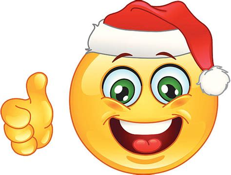 christmas emoticons royalty free thumbs up emoji clip vector images illustrations istock