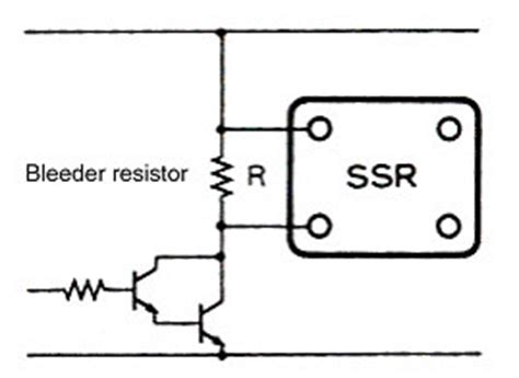 bleed resistor ssr does not turn faq australia omron ia