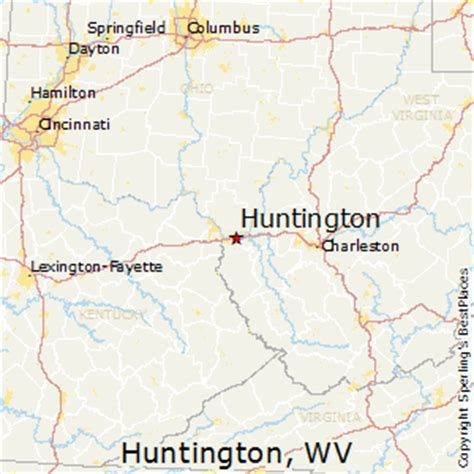 huntington west virginia map best places to live in huntington west virginia