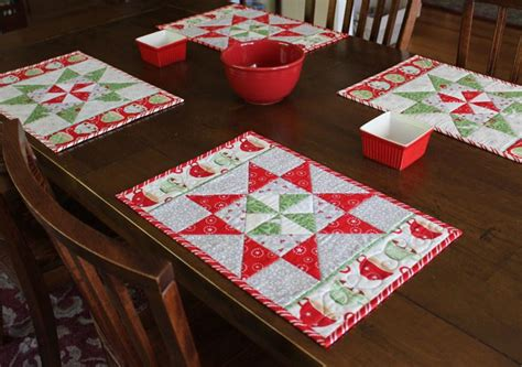 google christmas tree shop kitchen table runners not xmas spirit pinwheel placemats favequilts